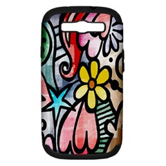 Digitally Painted Abstract Doodle Texture Samsung Galaxy S Iii Hardshell Case (pc+silicone)