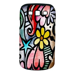 Digitally Painted Abstract Doodle Texture Samsung Galaxy S III Classic Hardshell Case (PC+Silicone)