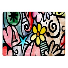 Digitally Painted Abstract Doodle Texture Samsung Galaxy Tab 10.1  P7500 Flip Case