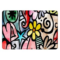 Digitally Painted Abstract Doodle Texture Samsung Galaxy Tab 8.9  P7300 Flip Case
