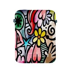 Digitally Painted Abstract Doodle Texture Apple iPad 2/3/4 Protective Soft Cases