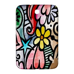 Digitally Painted Abstract Doodle Texture Samsung Galaxy Note 8.0 N5100 Hardshell Case