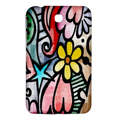 Digitally Painted Abstract Doodle Texture Samsung Galaxy Tab 3 (7 ) P3200 Hardshell Case