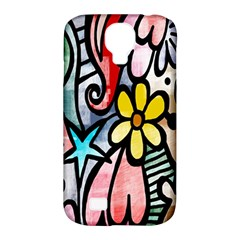 Digitally Painted Abstract Doodle Texture Samsung Galaxy S4 Classic Hardshell Case (pc+silicone)