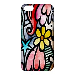 Digitally Painted Abstract Doodle Texture Apple iPhone 5C Hardshell Case
