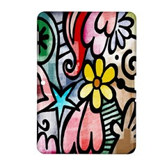 Digitally Painted Abstract Doodle Texture Samsung Galaxy Tab 2 (10.1 ) P5100 Hardshell Case