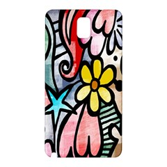 Digitally Painted Abstract Doodle Texture Samsung Galaxy Note 3 N9005 Hardshell Back Case