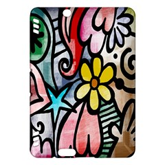 Digitally Painted Abstract Doodle Texture Kindle Fire HDX Hardshell Case