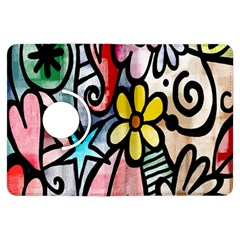 Digitally Painted Abstract Doodle Texture Kindle Fire HDX Flip 360 Case