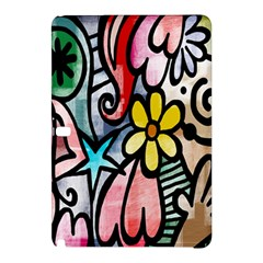 Digitally Painted Abstract Doodle Texture Samsung Galaxy Tab Pro 12 2 Hardshell Case