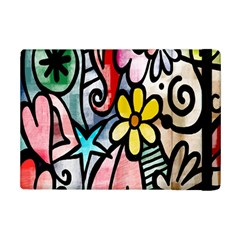Digitally Painted Abstract Doodle Texture iPad Mini 2 Flip Cases