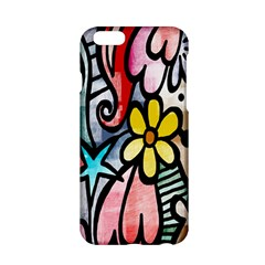 Digitally Painted Abstract Doodle Texture Apple Iphone 6/6s Hardshell Case