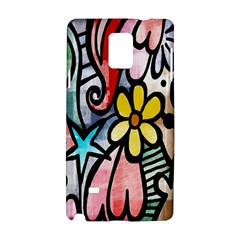 Digitally Painted Abstract Doodle Texture Samsung Galaxy Note 4 Hardshell Case