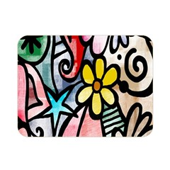 Digitally Painted Abstract Doodle Texture Double Sided Flano Blanket (Mini)