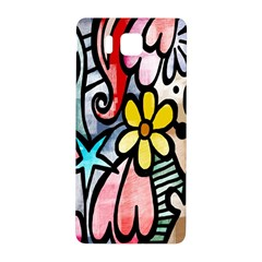 Digitally Painted Abstract Doodle Texture Samsung Galaxy Alpha Hardshell Back Case