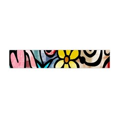 Digitally Painted Abstract Doodle Texture Flano Scarf (mini)