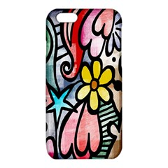 Digitally Painted Abstract Doodle Texture iPhone 6/6S TPU Case