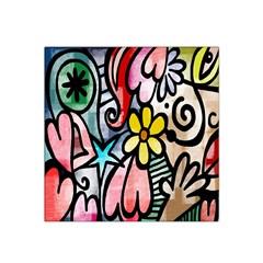 Digitally Painted Abstract Doodle Texture Satin Bandana Scarf