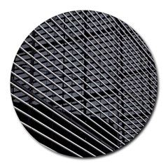 Abstract Architecture Pattern Round Mousepads