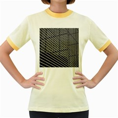 Abstract Architecture Pattern Women s Fitted Ringer T Shirts