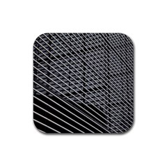 Abstract Architecture Pattern Rubber Square Coaster (4 Pack)