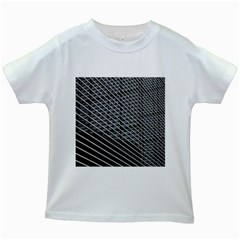Abstract Architecture Pattern Kids White T-Shirts