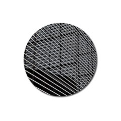 Abstract Architecture Pattern Magnet 3  (Round)