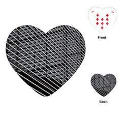 Abstract Architecture Pattern Playing Cards (Heart)