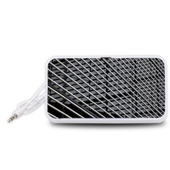 Abstract Architecture Pattern Portable Speaker (White)