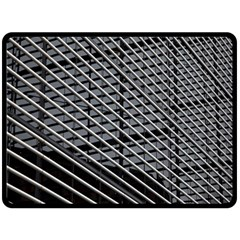 Abstract Architecture Pattern Double Sided Fleece Blanket (Large)