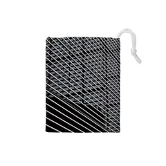 Abstract Architecture Pattern Drawstring Pouches (Small)