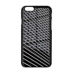 Abstract Architecture Pattern Apple iPhone 6/6S Black Enamel Case