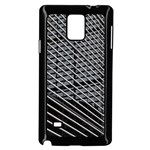 Abstract Architecture Pattern Samsung Galaxy Note 4 Case (Black) Front