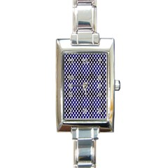 Squares Blue Background Rectangle Italian Charm Watch