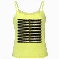 Squares Blue Background Yellow Spaghetti Tank