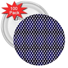 Squares Blue Background 3  Buttons (100 Pack)