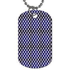 Squares Blue Background Dog Tag (two Sides)