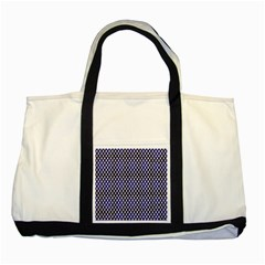 Squares Blue Background Two Tone Tote Bag