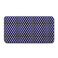Squares Blue Background Medium Bar Mats