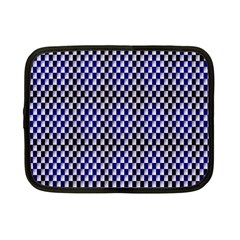 Squares Blue Background Netbook Case (small)