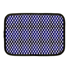 Squares Blue Background Netbook Case (medium)