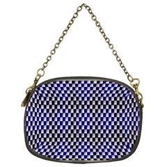 Squares Blue Background Chain Purses (One Side)