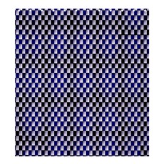 Squares Blue Background Shower Curtain 66  x 72  (Large)