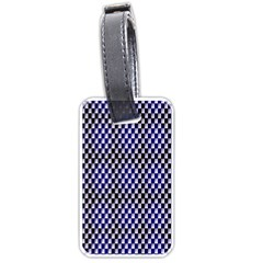 Squares Blue Background Luggage Tags (one Side)