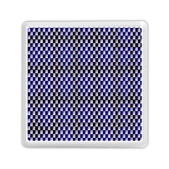 Squares Blue Background Memory Card Reader (square)