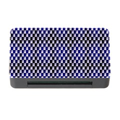 Squares Blue Background Memory Card Reader with CF