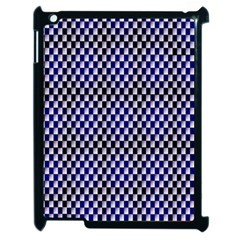 Squares Blue Background Apple iPad 2 Case (Black)