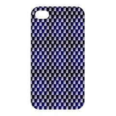 Squares Blue Background Apple Iphone 4/4s Hardshell Case