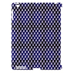 Squares Blue Background Apple Ipad 3/4 Hardshell Case (compatible With Smart Cover)