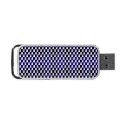 Squares Blue Background Portable USB Flash (Two Sides)